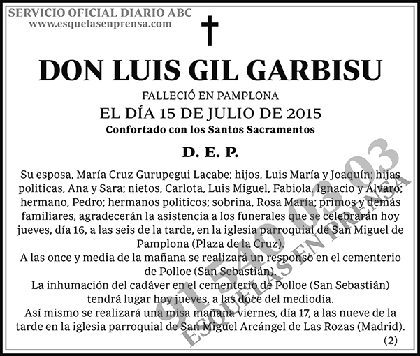 Luis Gil Garbisu